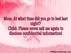 At what time did you go to bed...