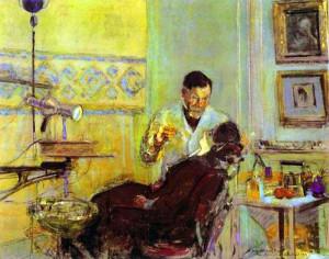 Edouard Vuillard. - Dr. Georges Viau in His Office