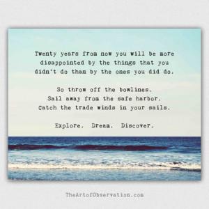 Life Quotes, inspirational, explore, dream, discover. Beach ...