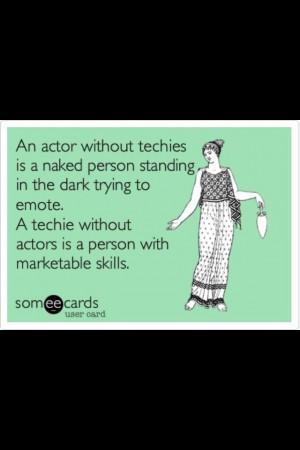 ... black. Honestly, I think backstage work made me a better performer