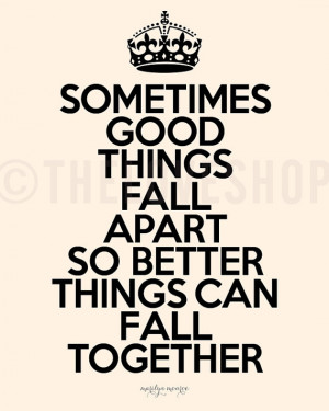 ... quotes by marilyn monroe Savvy Quote somethings things fall apart