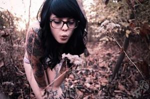 cute, girl, glasses, radeo, tattoo, tattoos
