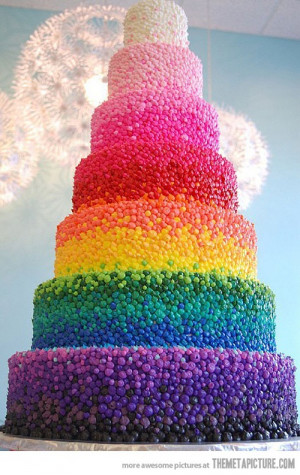 Source: http://themetapicture.com/rainbow-wedding-cake/ Like