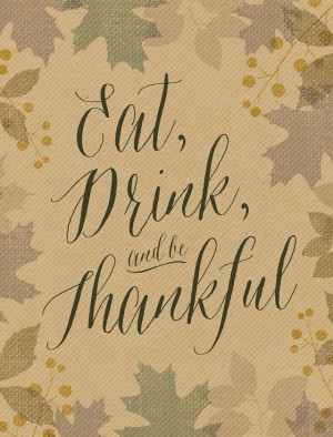 Thanksgiving Quote Printable