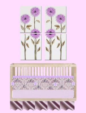 ... Decor, Kids Wall Art, Floral Girls room Art Decor by Errikos Artdesign