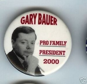 Gary BAUER President 2000 pin Pro Family