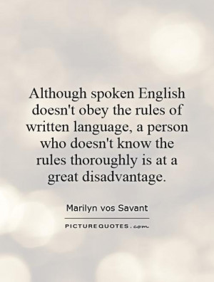 Language Quotes Marilyn Vos Savant Quotes