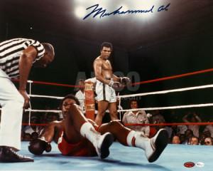 Muhammad Ali / George Foreman Autographed 16 x 20