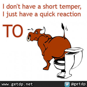 don't have a short temper, I just have a quick reaction to bullshit.