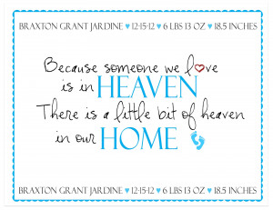... print, using that quote, in honor of their precious grandson/nephew