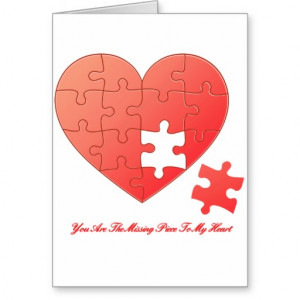 Puzzle Heart with Piece and Quote Card