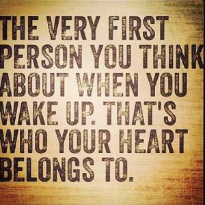 my heart belongs to...