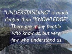 Better understanding of ourselves