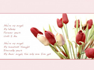 Rose And Lily Flower With Free Quotes About Love