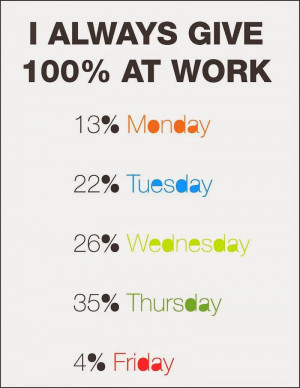 always give 100% at work .... funny office quote whatsapp quote