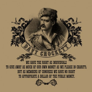 Davy Crockett T-Shirt - We Have The Right As Individuals