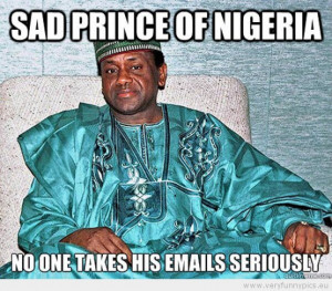 Funny Picture - Sad prince of nigeria no one takes his emails ...