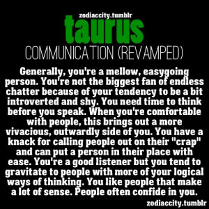 Zodiac City Taurus communication style