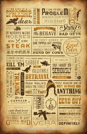 Firefly Quote Poster