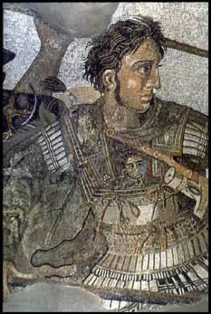 Alexander the Great . Detail from the Alexander mosaic from the House ...