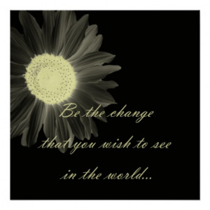 Be The Change Gandhi Quote Posters