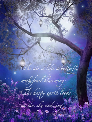 Beautiful Blue Air Butterfly Quote