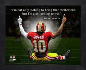... III Washington Redskins 8x10 Black Wood Framed Pro Quotes Photo