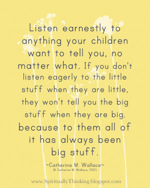 listening earnestly to Little Friend and Little One these days.