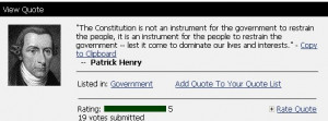 ... . But Patrick Henry never said it. He never wrote it. It is fake