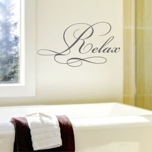Relax Elegant Wall Quotes™ Decal