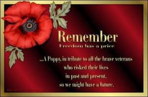 photo of veterans day poppy