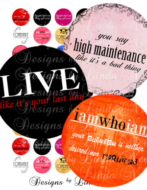 SASSY Quotes (1.5 Inch round) Bottlecap Images SALE - Digital Collage ...