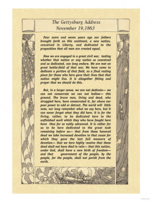 Abraham Lincoln Gettysburg Address Quotes Clinic