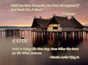 Faith Can Move Mountains ~ Faith Quote