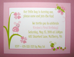 First Bday Invitation Quotes