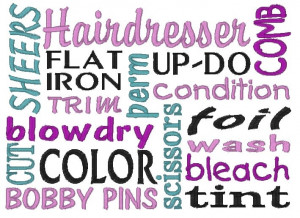 Hair Stylist Quotes And Sayings Hairdresser subway art