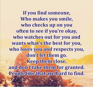 If you find someone who ...