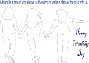 Happy Friendship Day Greeting Cards Quotes Coloring Pages