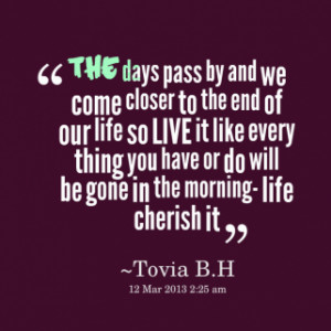 thumbnail of quotes *the days pass by and we come closer to the end of ...