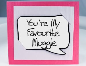 Harry Potter Quote Card - Pink Muggle Funny Quote Magnet. $3.25, via ...