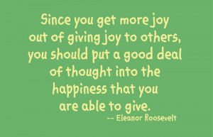 Joy Of Giving Quotes Joy quotes
