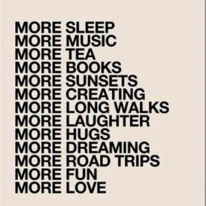 More of all the good...