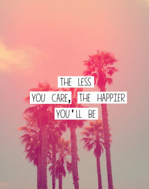 care, happy, pink, quote, text, true