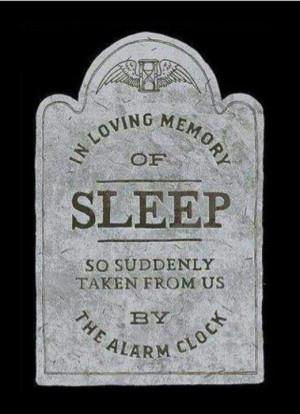 Lol!! I miss you, dear sleep...
