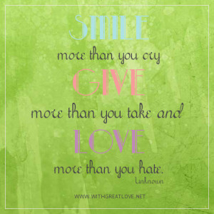 give more than you take quotes