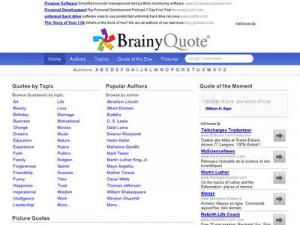 Brainyquote information: