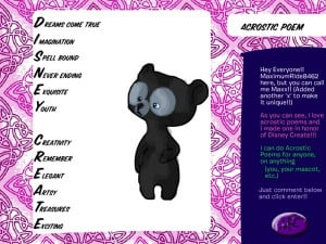Acrostic Poem By Maximumride8462 picture