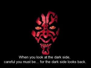 ... wars, quotes, sayings, dark side, look, careful | Inspirational