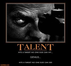 talent genius demotivational poster