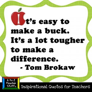 Teachers make a difference!